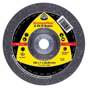 Schruppscheibe, SUPRA, A 24 R, gekröpft, Abm.: 125x4x22,23 mm