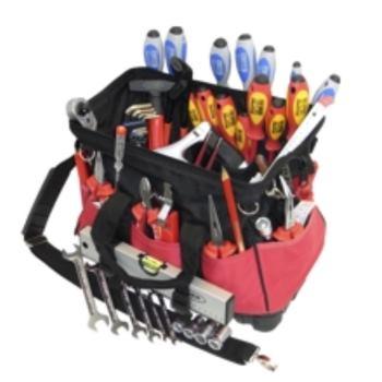 Textiltasche 12-TGU, komplett, mit Elektro-Service -Werkzeugpaket 12, 45-teilig