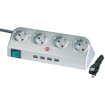 Desktop-Power mit Schalter und USB-Hub 2.0 4-fach