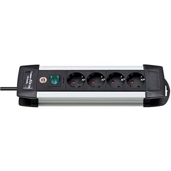 Premium-Alu-Line Steckdosenleiste 4-fach 1,8m H05VV-F 3G1,5