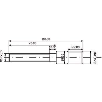 Ersatzteile,Adapterschraube M 12 x 1,5 109112
