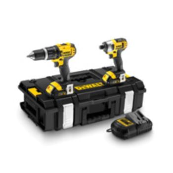 18,0 Volt/ 1,5 Ah Schlagbohrschrauber u DCK285C2 hrauber-Set