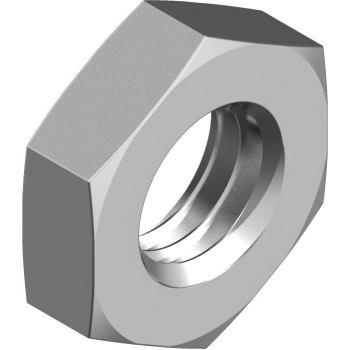Sechskantmuttern niedrig DIN 439-B - Edelstahl A2 M10x1 Feingewinde