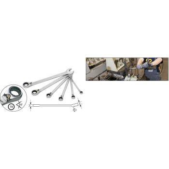 Knarren-Ring-Maulschlüssel-Satz 606/6-1 · Außen-Doppel-Sechskant Profil
