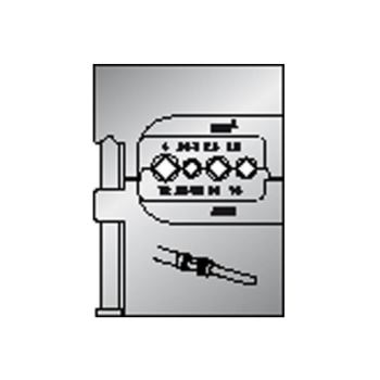 Modul-Einsatz für schwere Steckverbinder 1,5-4mm