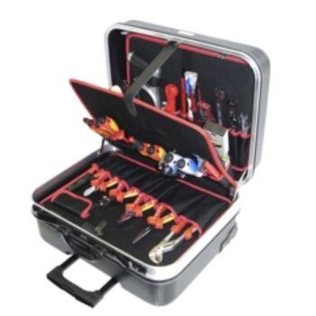 Hartschalen-Trolley 11-HT, komplett, mit Elektro-W erkzeugpaket 11, 33-teilig