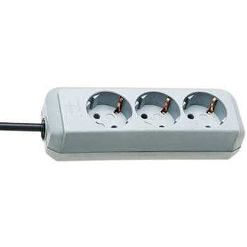 Eco-Line Steckdosenleiste 3-fach lichtgrau 1,5m H05VV-F 3G1,5