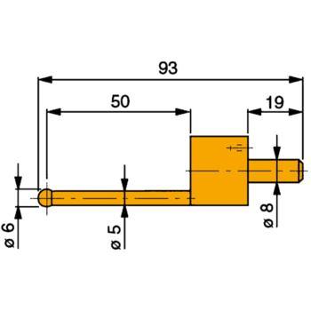 TESA Messeinsatz mit Hartmetall-Kugel 6 mm Durchme