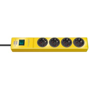 hugo! Steckdosenleiste 4-fach gelb 2m H05VV-F3G1,5