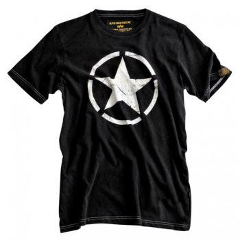 Alpha Industries Star T-Shirt schwarz | L