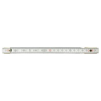 Holz-Gliedermaßstab, weiß, 2m 300.0062