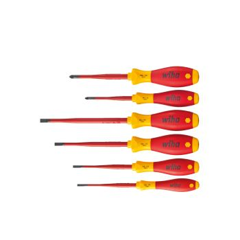 SoftFinish® electric slimFix Schlitz/ Pozidriv Sch raubendrehersatz, 6-tlg.