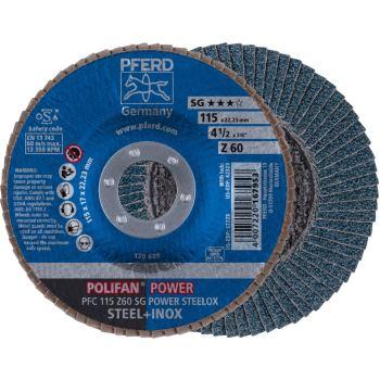 POLIFAN®-Fächerscheibe PFC 115 Z 60 SG-POWER/22,23