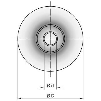 Schneidrädchen für niro-Rohre 20x4,8x5,1 mm
