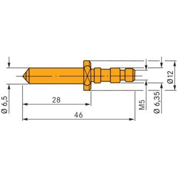 Kugelhalter mit 1/16 Inch HM-Kugel, eingepresst Fu