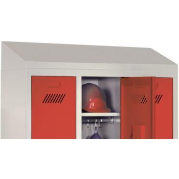 Kleiderschrank mit Sitzbank-Untergestell 4 Abteile