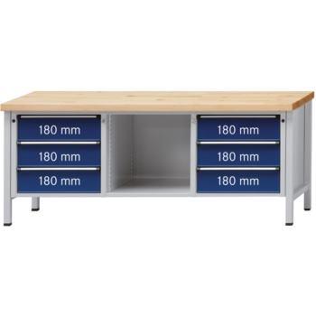ANKE Werkbank Modell 120 V Platte mit Zinkblechbel