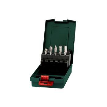 Hartmetall-Fräser-Set, Schaft 6 mm, 5-teilig