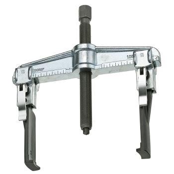 Schnellspann-Abzieher 2-armig, mit schlanken Haken 100x100 mm