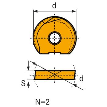 Hartmetall Wechselschneidplatte WPR-CF 25 mm LC61