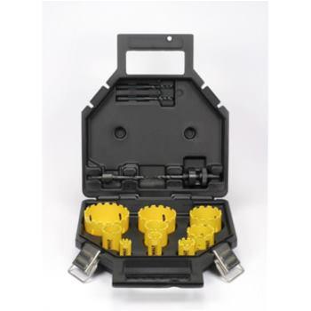 11-tlg. Lochsägen-Set ELEKTRIKER mit 2x DT8276 , 2x Zentrierbohrer, 7x HM-beschichtete Lochsägen