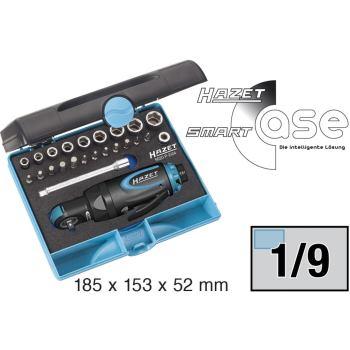 Mini-Ratschenschrauber-Satz 9020P-2/24 · Vierkantmassiv 6,3 mm (1/4 Zoll) – 40 Nm · l: 150 mm