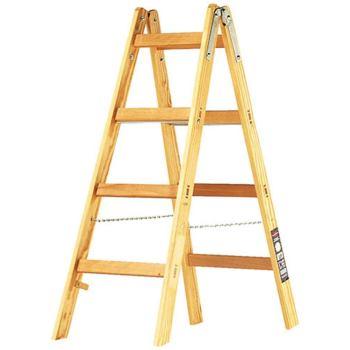 Holz-Stehleiter 2x4 Sprossen Höhe Stehleiter 1,2m