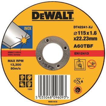 Standard Edelstahl-Trennscheibe - flach DT42241