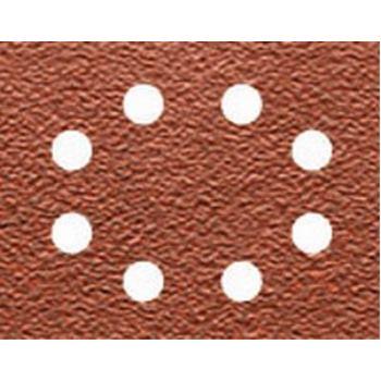 Schleifpapier 115 x 140mm K60, Mehrzwec DT3012 rbe - Trockenschliff - gelocht (8 Loch ringförmig)
