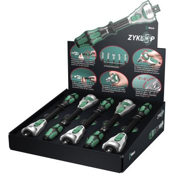 5 x Zyklop 1/2 Knarre 8000 C/5 Thekendisplay Zyklo