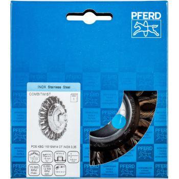 Kegelbürste mit Gewinde, gezopft POS KBG 11515/M14 CT INOX 0,35
