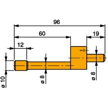 Messeinsatz Stahl gehärt. 10 mm Durchmesser m