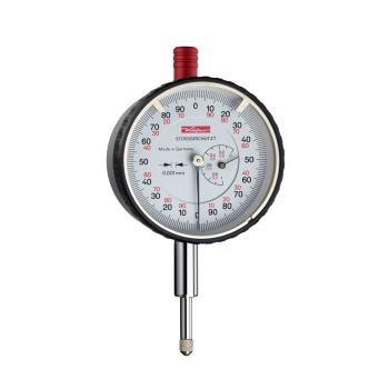Feinmessuhr 0,001mm / 1mm / 58mm / Stoßschutz / ISO 463 - Werksnorm 10053