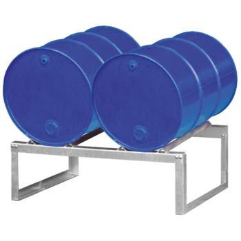 Fassauflage verzinkt für 2 Fässer mit 200 Liter