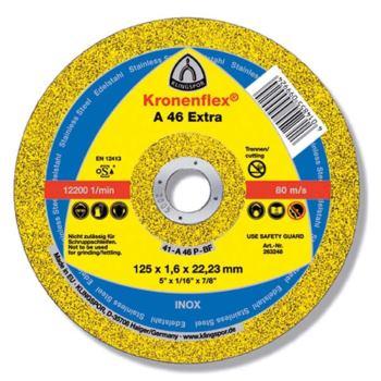 Trennscheibe, EXTRA, A 46, gerade, Abm.: 125x1,6x22,23 mm