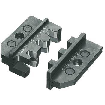 Crimpeinsatz für Fahnenstecker und unisolierte off ene Steckverbinder 4,8 + 6,3 mm