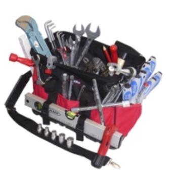 Textiltasche 2-TGU, komplett, mit Sanitär-Heizung- Werkzeugpaket 2, 47-teilig