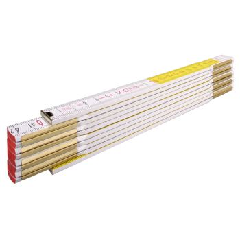 Maßstab Zollstock / TYP:617 weiß/gelb 2 Meter
