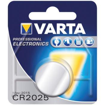 Knopfzellen CR 2025 Blister = 1 Stück 3 V 170 mAH