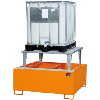 Stahl-Auffangwanne + Aufsatz (für 3 IBC) LxBxH 385