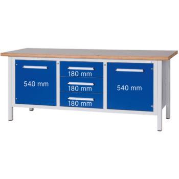 Werkbank Serie Länge 2000 Platte Buche Multiple