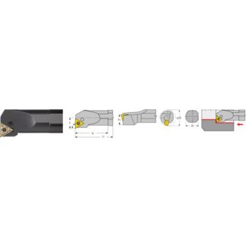 Bohrstange negativ A25R PTFN R 16