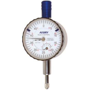 Kleinmessuhr 5 mm Messspanne 0,01 mm Skw. stoßgesc hützt Außendurchm. 40 mm