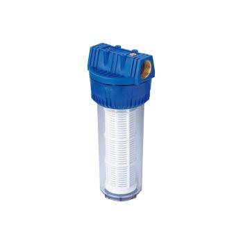 """Filter für Hauswasserwerke 1"""" lang, mit waschbarem"""