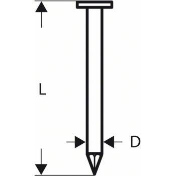 Rundkopf-Streifennagel SN21RK 80 3,1 mm, 80 mm, bl