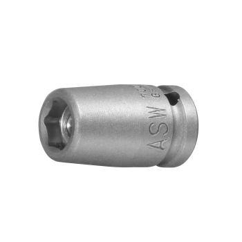 """Kraft-Steckschlüssel mit starkem Dauermagnet 1/4"""""""