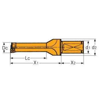 Spannschraube für Wendeschneidplatten Torx 8 M 2,