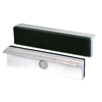 Magnet-Schraubstockbacken 120 mm Aluminium mit Gum