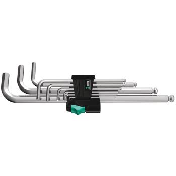 1,5-10mm 6-kant Winkelschraubendreher 9-tlg. mit Kugelkopf