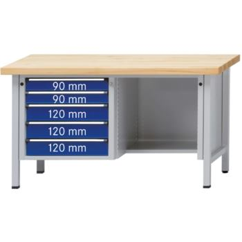 Werkbank Modell 344 V Sitzer Platte Zinkblech
